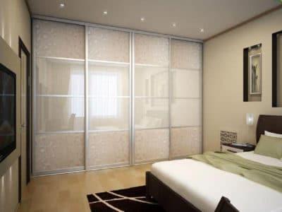 Шкаф-Купе в спальную комнату Хим-Травление+Oracal