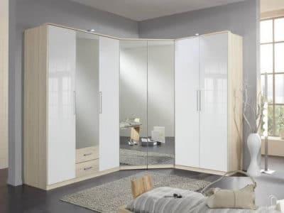 Шкаф Распашной Зеркало+МДФ глянец